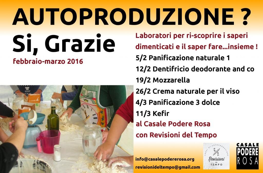 promo flyer laboratori di autoproduzione casalinga febbraio marzo 2016