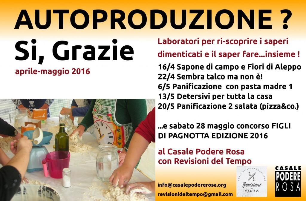 promo flyer laboratori di autoproduzione casalinga aprile maggio 2016