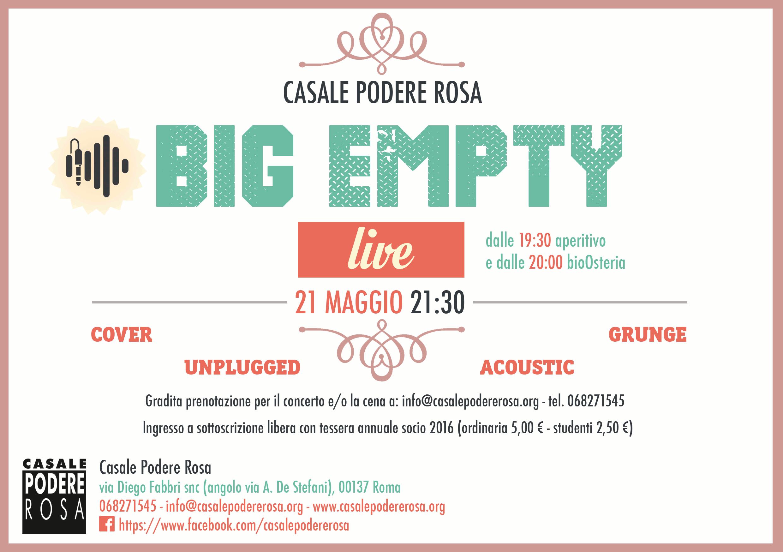 Big Empty live il 21 maggio @CPR
