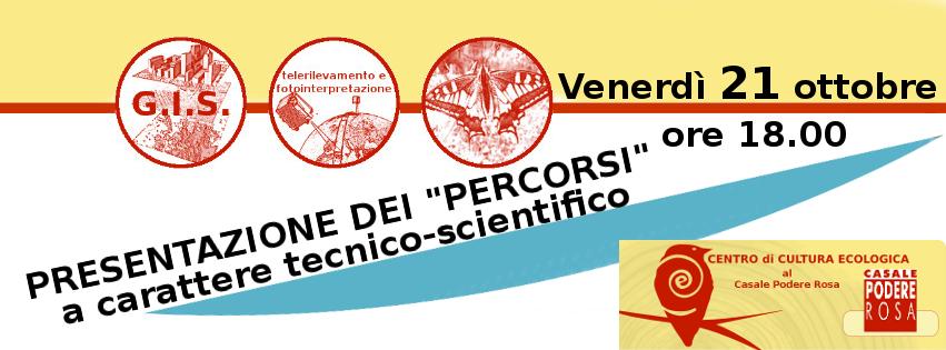 Presentazione dei PERCORSI tecnico-scientifico il 21 ottobre 2016 @CPR