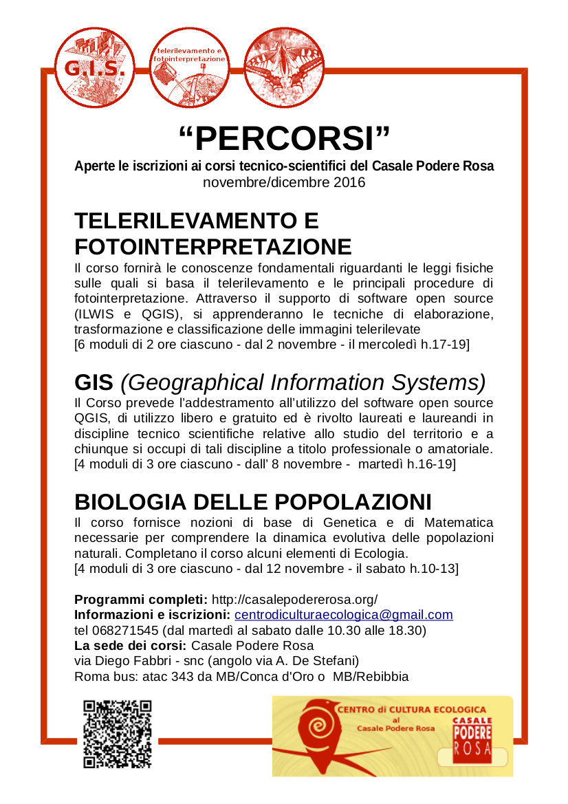 PERCORSI - corsi a carattere tecnico-scientifico, autunno 2016 @CPR