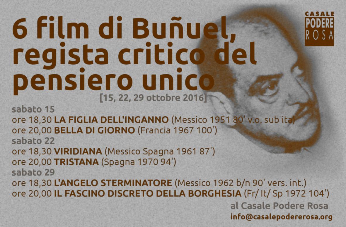 6 film di L. Buñuel 15-22-29 ottobre @CPR