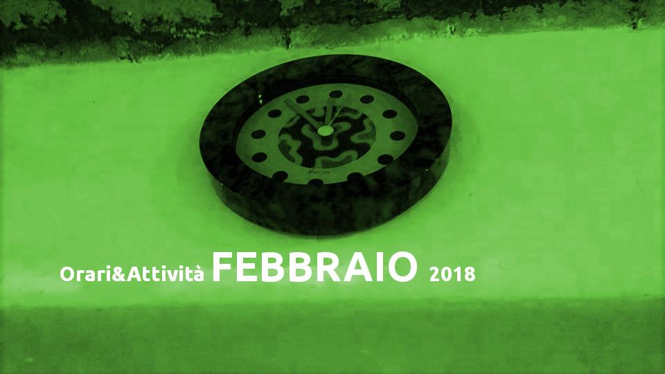 Orari e Attività Gennaio 2018