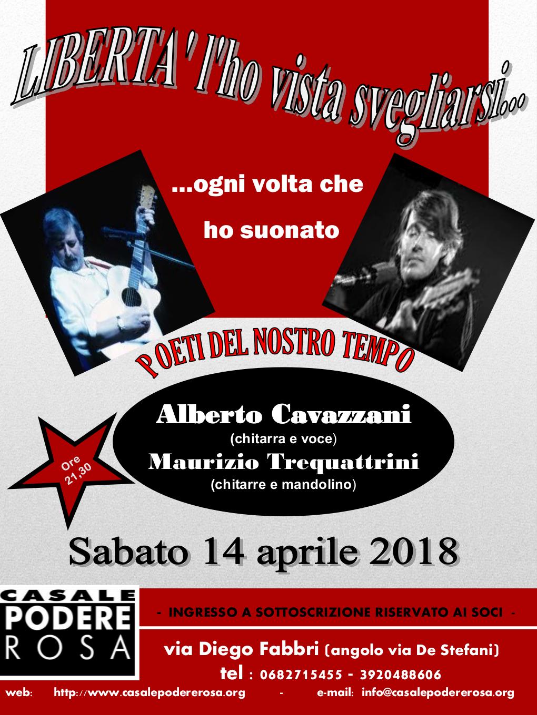 Poeti del nostro tempo concerto sabato 14 aprile
