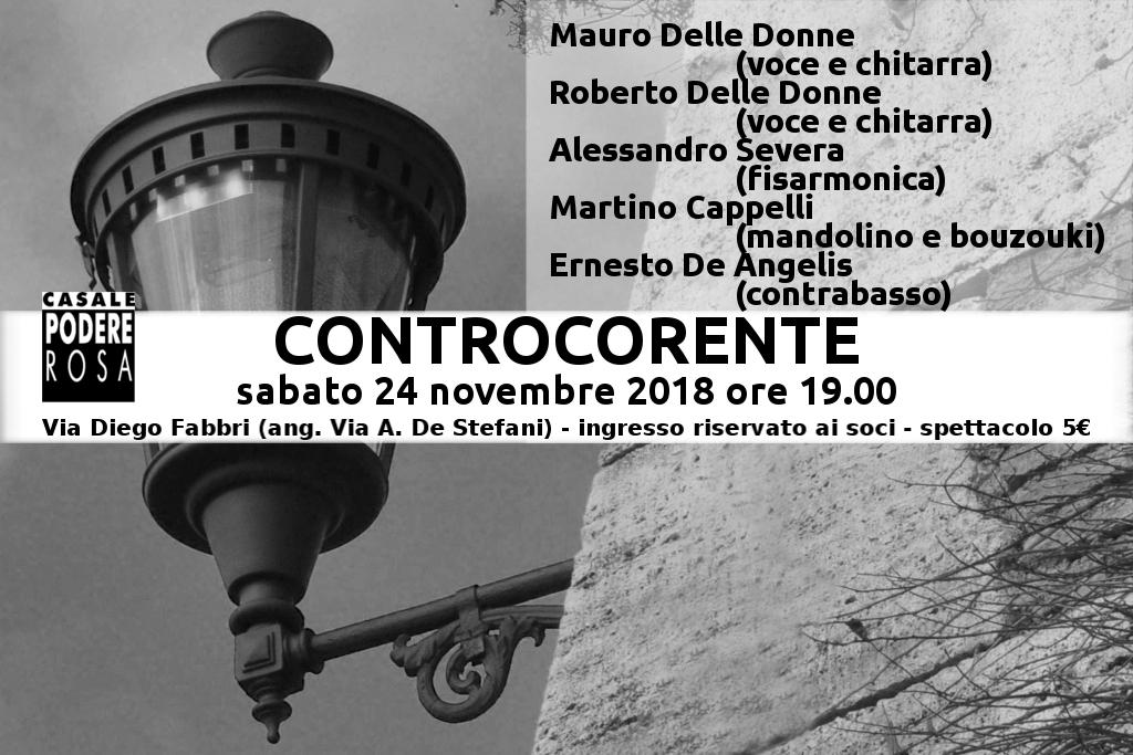 ControCorente in concerto sabato 24 novembre