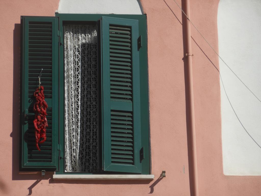 [Roma, persiana con peperoncini. foto di Stefano Petrella]