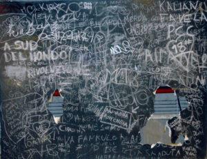 [Roma, Stazione Termini. Graffiti. S. Petrella]