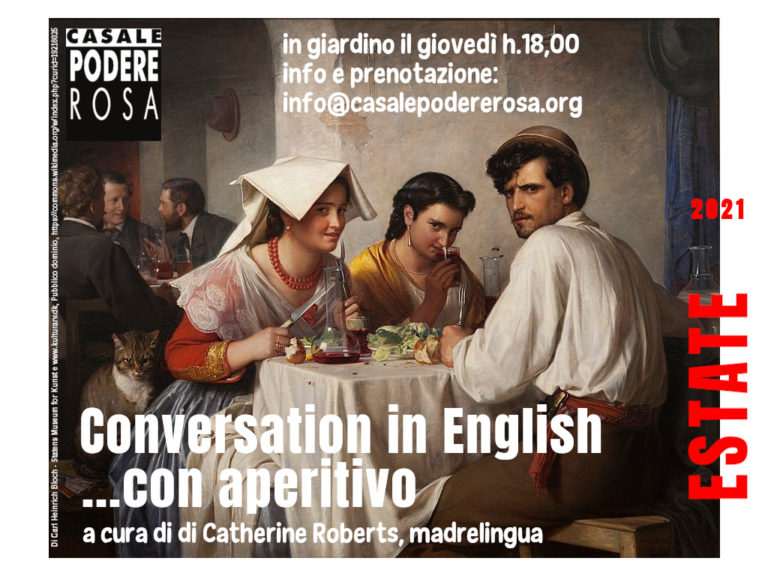 Conversation in English ...con aperitivo