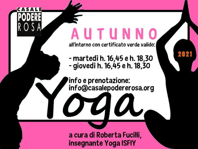 Lezioni di Yoga autunno 2021
