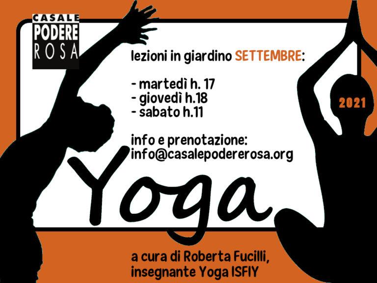 Lezioni di Yoga settembre 2021